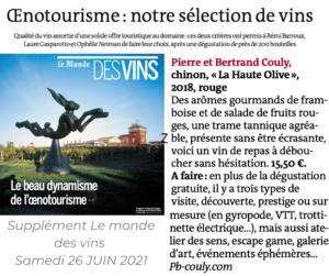 La sélection oenotourisme du monde 2021